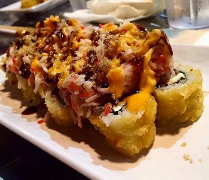 sushi at beaches